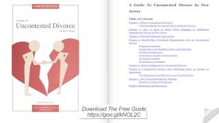 A Guide to Uncontested Divorce in New Jersey