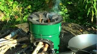 Wok cooking with the Rocket Stove.