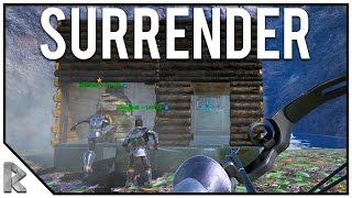 SURRENDER! - First Volcano Raid! - Ark Survival Evolved