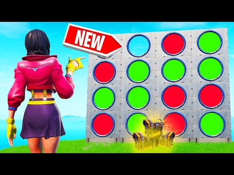 Playing FOUR IN A ROW In FORTNITE NEW Game Mode