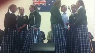 Peel High School Aboriginal girls vocal group