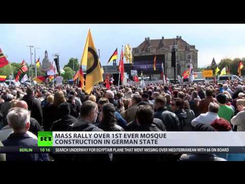 watch 'No mosques in Germany!' Mass rally against Muslim houses of worship in Thuringia