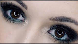 green smoky eye + nude lip tutorial ♡ _makeupbyjamie