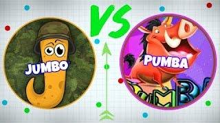 JUMBO VS PUMBA / Agar.io / Slither.io !