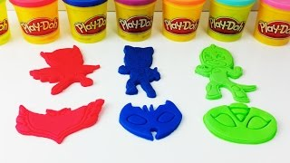 PJ Masks Play Doh Clay Gekko Catboy and Owlette Learn Colors  for Kids Creative for Children