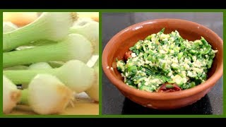 வெங்காயத்தாள் பொரியல் செய்வது எப்படி? How to make Spring Onion Poriyal   Fry   South Indian Recipe