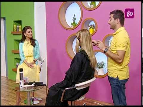 مصفف الشعر بهاء ياسين يقص شعر طويل