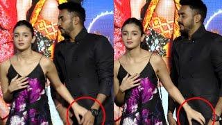 OMG: Watch what Alia Bhatt's hand is searching? Alia Bhatt OOPS Moment