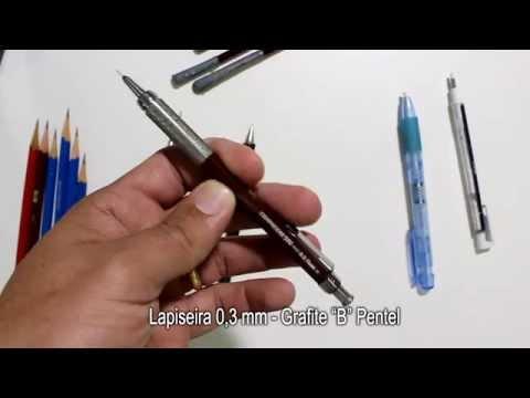 Vídeo Aula Gratuita de Desenho Realista Charles Laveso Os Lápis que eu uso
