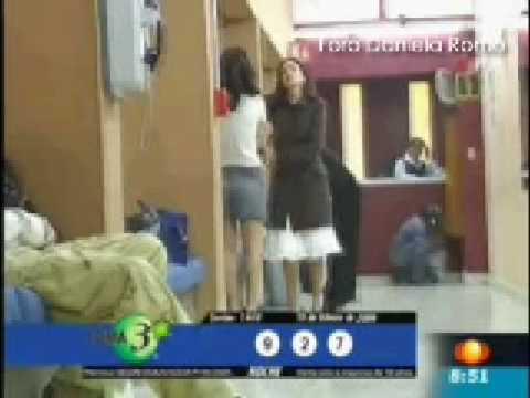 Daniela Romo y demás actores en pruebas de Sortilegio