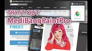 Try it out MediBangPaintPro (Download Process Real times 1 hour)