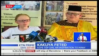 Albinism society of Kenya celebrates Kenya's top KCPE candidate 2017 Goldalyn Kakuya's victory