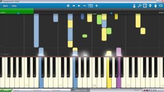 Maudy Ayundya ~ Perahu Kertas  | Piano Tutorial  Synthesia