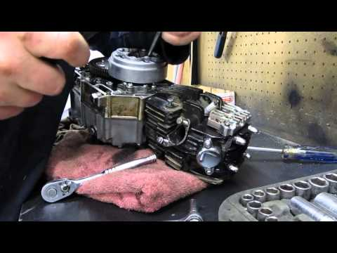 110cc pit bike engine teardown pt1