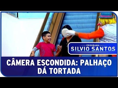 Câmera Escondida Palhaço Dá Tortada I Clown Prank SBT
