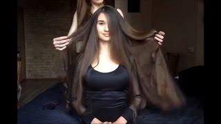 ASMR hairbrushing and hairplaying with Bella)