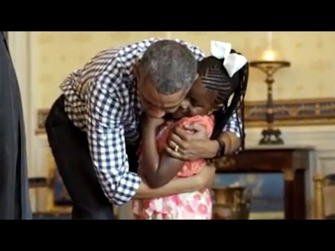 Watch adorable video of six-year-old Birmingham girl meeting President Obama