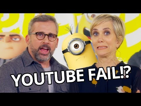 Kristen Wiig Steve Carell FAIL at YouTube Challenge Despicable Me 3 Movie