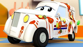 El lavado de Autos de Tom -  Pedro el Cartero SE Estrella Con un Pote de Caramelo - Dibujos animados
