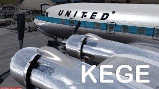 Prepar3D v4 - PMDG DC-6B approch KEGE