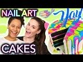 Download Video HELP Nail Artist In the Kitchen | Nail Art Designs on Cakes ft. How To Cake It 3GP MP4 FLV