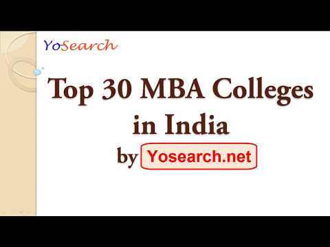 Top 30 MBA Colleges in India | Best MBA Colleges | Top MBA Colleges | Business School