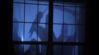 AtmosFX Halloween Projector Effects in our front window - Digital Halloween Decorations for 2017