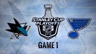 Elliott makes 32 saves, Blues beat Sharks in Game 1