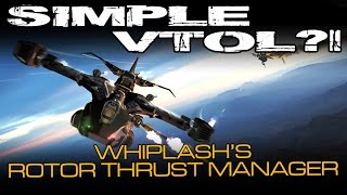 Space Engineers - Simple VTOL's?! Checking out Whiplash's Rotor Thrust Manager