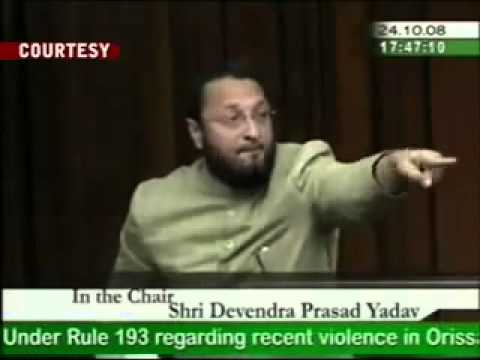 Watch how Member of parliament from Hyderabad Asaduddin Owaisi's talks in Parliament