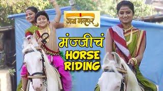 Jay Malhar - Manji Horse Riding with Bal Ganesh - On Location - Zee Marathi Serial