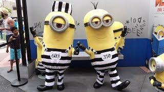 Minions in Jail Despicable Me 3 Meet & Greet at Universal Studios Florida, Minion Tattoo Parlor