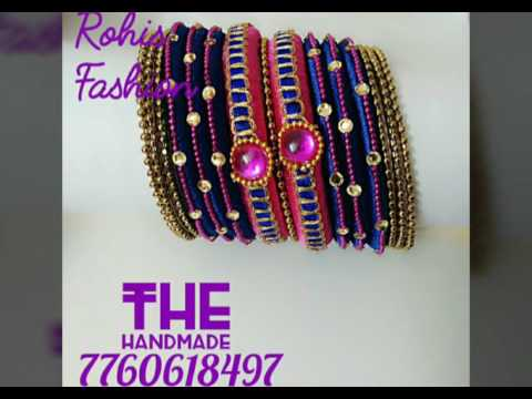 Handmade jewellery: Silk thread bangles by Rohis B Unique