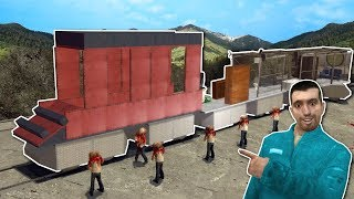 BUILDING A TRAIN AGAINST ZOMBIES! - Garry's Mod Gameplay - Gmod Zombie Apocalypse Roleplay!