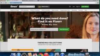 How to setup a fiverr account.