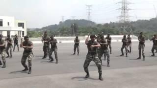 Royal Military College of Malaysia Wardance and Haka 2015