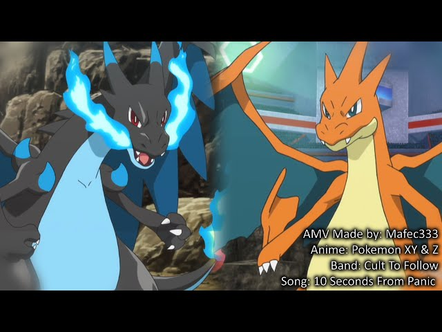 Mega Charizard X vs Mega Charizard Y -Anime- HD AMV