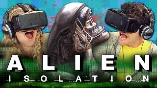 OCULUS RIFT - ALIEN ISOLATION: SURVIVOR MODE (Teens React: Gaming)