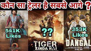 Which trailer won on social media | Tiger Zinda Hai | Dangal | Bahubali 2 | Salman Khan