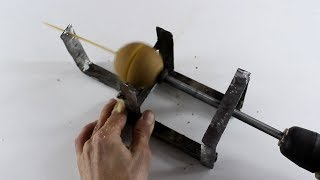How to Make Spiral Potato Machine, You Can Make it at Home