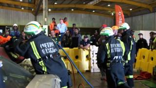 Holmatro Rapid Vehicle Extraction: Western Cape Metro Rescue in action at SAESI 2015