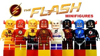 LEGO The Flash + 2014 CW's The Flash TV Series KnockOff Minifigures w/ Professor Zoom