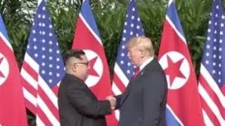 Breaking Historic USA Trump meets North Korea Kim Jong Un & Share Handshake June 11 2018 News