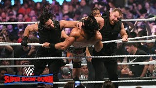 The Shield stay united against Strowman, Ziggler & McIntyre: WWE Super Show-Down 2018 (WWE Network)