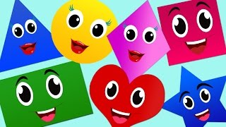 The Shapes Song | Nursery Rhymes | Nursery Rhymes With Lyrics