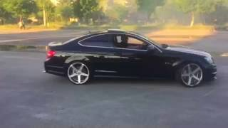 Mercedes c63 amg coupe donuts & funny fail @ 0:33 sec