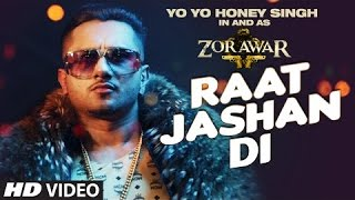 Raat Jashan Di Song Lyrics | ZORAWAR | Yo Yo Honey Singh, Jasmine Sandlas, Baani J | T-Series