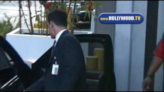 Damon Elliott Leaves CNN Building.