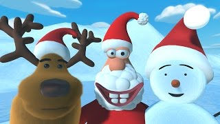 Christmas cartoon for kids - Starring a reindeer, a snowman and santa by tinyschool