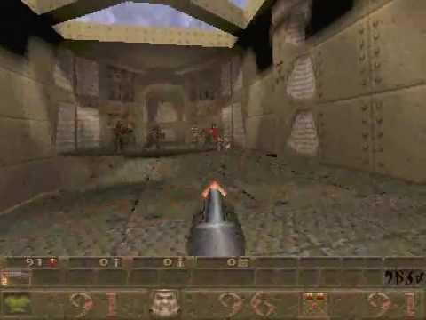 Quake 1 Gameplay - Hard - E1M1 (ORIGINAL GRAPHICS)